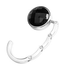 Beli Round Folding Purse Handbag Hanger Hook Holder Black Intl Nyicil