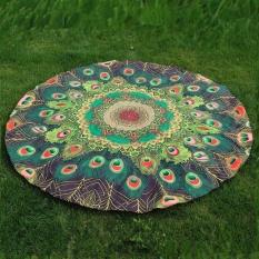 Sepanjang Cetak Hippie Tapestry Pantai Picnic Throw Yoga Alas Handuk Selimut-Internasional