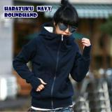Roundhand Harazuku Fleece Halus Jaket Parka Ziper Hoodie Casual Atasan Diskon Jawa Barat