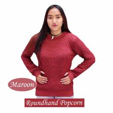 Harga Hemat Roundhand Popcorn Jala Nanas Maroon