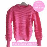 Roundhand Popcorn Jala Nanas Pink Berry Sweater Rajut Diskon 40