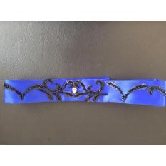 Royal Blue & Black Leaf Belt