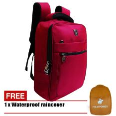 Jual Polo Power Tas Ransel 14 Inchi 142010 Nylon Original Import Red Raincover