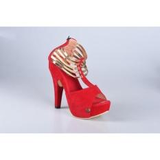 Rsm High Heels Wanita Pesta S148 Red Terbaru