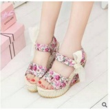 Harga Rsm Sendal Wedges S 36 Cream Pink New