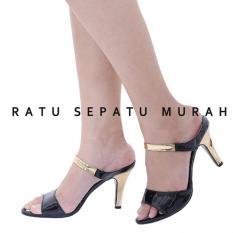 Jual Rsm Sepatu Heels Wanita S 394A Black Branded Original