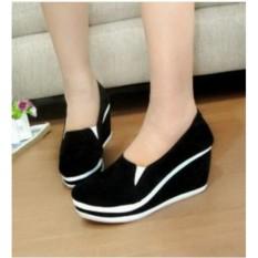 Harga Rsm Sepatu Wedges Wanita S281A Black Di Jawa Barat