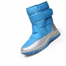 Rubi Bot 2017 Modis Plus Kasmir Olahraga Rekreasi Wanita Salju Bot Tinggi Penolong Hangat Set Sepatu (Biru) 35-40-Internasional