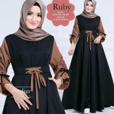 Ruby fashion long dress wanita gamis termura(99=XL no kerudung)(127= L + kerudung)