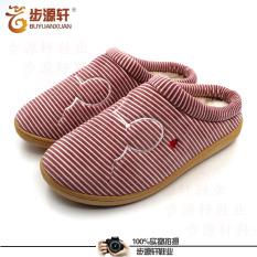 Rumah Datar Non-slip Sandal Beberapa Kapas Beijing Sepatu Kain Bekas (Merah)