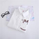 Harga Rumah Korea Bordir Musim Gugur Lengan Panjang Jaket Korduroi Putih 12 Termurah
