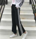 Toko Celana Santai Wanita Bergaris Terlihat Langsing Versi Korea Hitam Online Di Tiongkok
