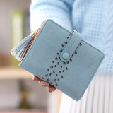 Beli Dompet Korea Lulur Dompet Uang Kecil Kecil Bening Perempuan Light Blue Yang Bagus