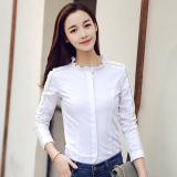 Dimana Beli Kemeja Putih Tambah Beludru Hangat Atasan Perempuan Slim 3301 Putih Baju Wanita Baju Atasan Kemeja Wanita Oem