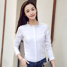 Toko Kemeja Putih Tambah Beludru Hangat Atasan Perempuan Slim 3301 Putih Baju Wanita Baju Atasan Kemeja Wanita Lengkap