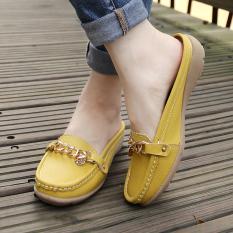 Jual Cepat Sepatu Sandal Wanita Sol Datar Anti Selip Kuning