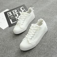 Toko Wild Tassel Student Flat White Shoes New Style Canvas Shoes Putih Sepatu Wanita Sepatu Sport Sepatu Sneakers Wanita Murah Di Tiongkok