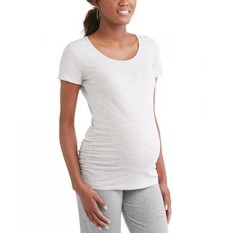 Rumor Has It Maternity Ruched Sides Short Sleeve T-Shirt Top - intl
