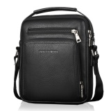 Model Pria Tote Bags Pu Kulit Tahan Air Briefcase Shoulder Bag Hitam Terbaru