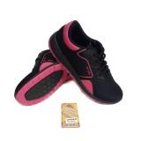 Jual Ando Sepatu Running Wanita Linden Hitam Fushia Murah