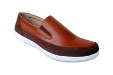S Van Decka Jp010Tk Sepatu Kasual Pria Tan Kopi Promo Beli 1 Gratis 1