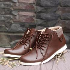 S. van Decka RC22K Sepatu Kasual Pria - Cokelat
