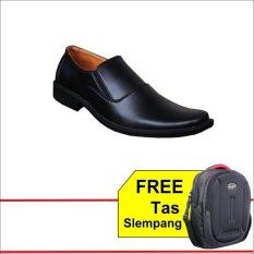 S. van Decka T-TK012 Sepatu Formal Pria - Hitam + Free Tas Slempang