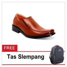 S Van Decka T Tk018T Sepatu Formal Pria Tan Free Tas Slempang Diskon Akhir Tahun