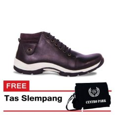 Harga S Van Decka Xwr022 Sepatu Kasual Pria Hitam Gratis Tas Slempang Online