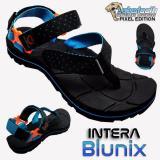 Model Sabertooth Sandal Gunung Traventure Intera Blunix Size 32 S D 47 Hitam Tali Titik Biru Pastel Terbaru