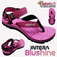 Jual Sabertooth Sandal Gunung Traventure Intera Blushine Size 32 S D 47 Pink Tali Merah Muda Branded Murah