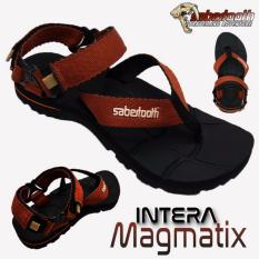 Sabertooth Sandal Gunung / Traventure Intera Magmatix Size 32 s/d 47 [Hitam Tali Coklat]