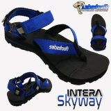 Review Sabertooth Sandal Gunung Traventure Intera Skyway Size 32 S D 47 Hitam Tali Biru Sabertooth