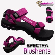 Sabertooth Sandal Gunung / Traventure Spectra Blushenta Size 32 s/d 47 [Hitam Tali Pink]
