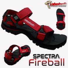 Sabertooth Sandal Gunung / Traventure Spectra Fireball Size 32 s/d 47 [Hitam Tali Merah]