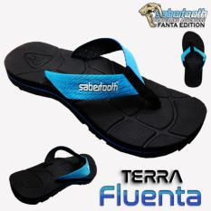 Jual Sabertooth Sandal Gunung Traventure Terra Fluenta Size 32 S D 47 Hitam Tali Biru Muda Jawa Barat Murah