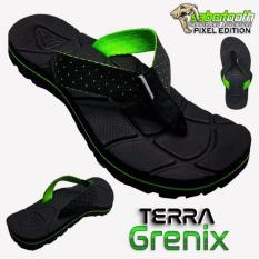 Jual Sabertooth Sandal Gunung Traventure Terra Grenix Size 32 S D 47 Hitam Tali Titik Hijau Terang Online Jawa Barat