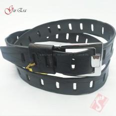 Sabuk Kulit Asli Gesper Ikat Pinggang pria Original Gio Era Hitam Kualitas Premium 130 cm GGE-003