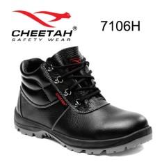 Safety Shoes Cheetah Original Sepatu Safety - Black 7106H