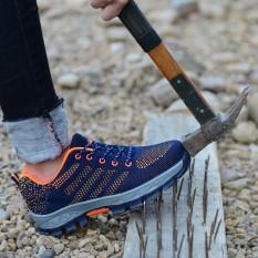Sepatu Keselamatan Sepatu Pria Situs Pengelasan Anti Smashing Anti-STAB Debu Bekerja Sepatu Safety Protective Steel Toe Steel Plate untuk Membantu Tenaga Kerja-Intl