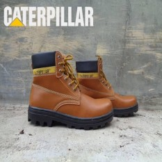 Safety Shoes Sepatu Caterpillar Safety Boots Bromo Warna Coklat Muda