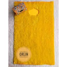 Sajadah Swissroll Orlin Warna Kuning Tua / Sajadah Bulu / Sajadah Empuk / Sajadah Busa / Sajadah Empuk / Sajadah Polos
