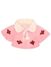 [Dijual Di Rincian Harga] Cyber Diskon Besar Anak Perempuan Lebih Tahan Dr Musim Dingin Jaket Hangat Bunga Bordir Bulu Imitasi Mantel Bulu (merah Muda) -Intl