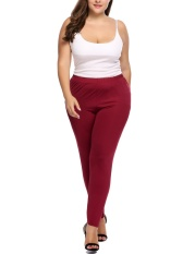 Jual Sale At Breakdown Price Cyber Big Discount Women Plus Size High Waist Stretchy Lightweight Breathable Full Length Leggings Wine Red Intl Online