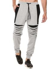 [Penjualan Di Breakdown Harga] Penjualan Maya Meaneor Pria Panggul Hop Gaya Olahraga Drawstring Pelari Celana Panjang Yang Longgar (grey) -Internasional