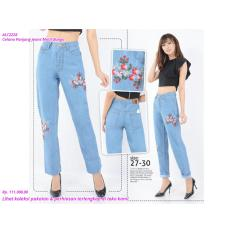 SALE Celana Panjang Jeans Motif Bunga TERMURAH