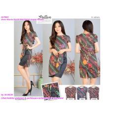 SALE Dress Wanita Murah Motif Batik Lengan Pendek TERMURAH