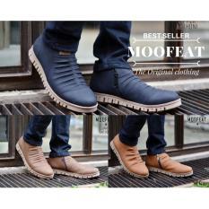 Sale Moofeat Zipper Anthony Sepatu Boots Pria Resleting Samping Casual Sneakers Kerja