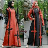 Newone Sale Maxi Donita Mustard Red Gamis Murah Muslim Maxi Dress Asli
