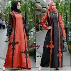 Promo Newone Sale Maxi Donita Mustard Red Gamis Murah Muslim Maxi Dress